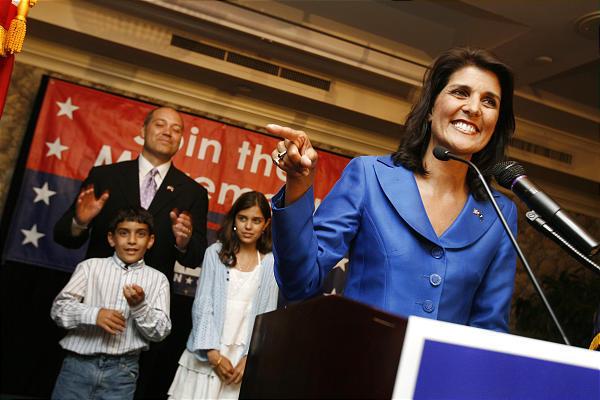 South Carolina gubernatorial candidate Nikki Haley.