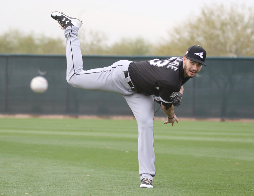 Dylan Cease in spring training