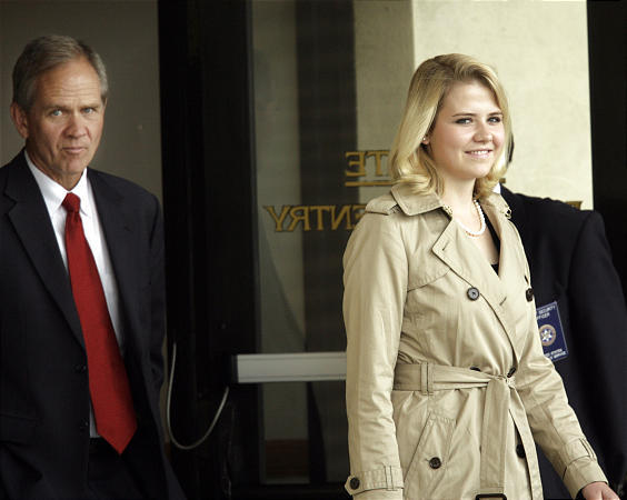 Elizabeth and Ed Smart leave court after testifying against accused kidnapper Brian David Mitchell during his trial in Salt Lake City Wednesday.