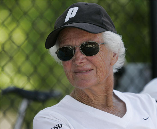 Highland High assistant tennis coach Kathy Rothfels