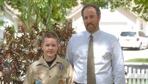 """On Halloween 2010, Craig Perry was choking on some rice. His son, Jacob, performed the Heimlich maneuver and saved his life. On Sunday, the 12-year-old received the Boy Scout's highest honor """""""" the badge of heroism."""