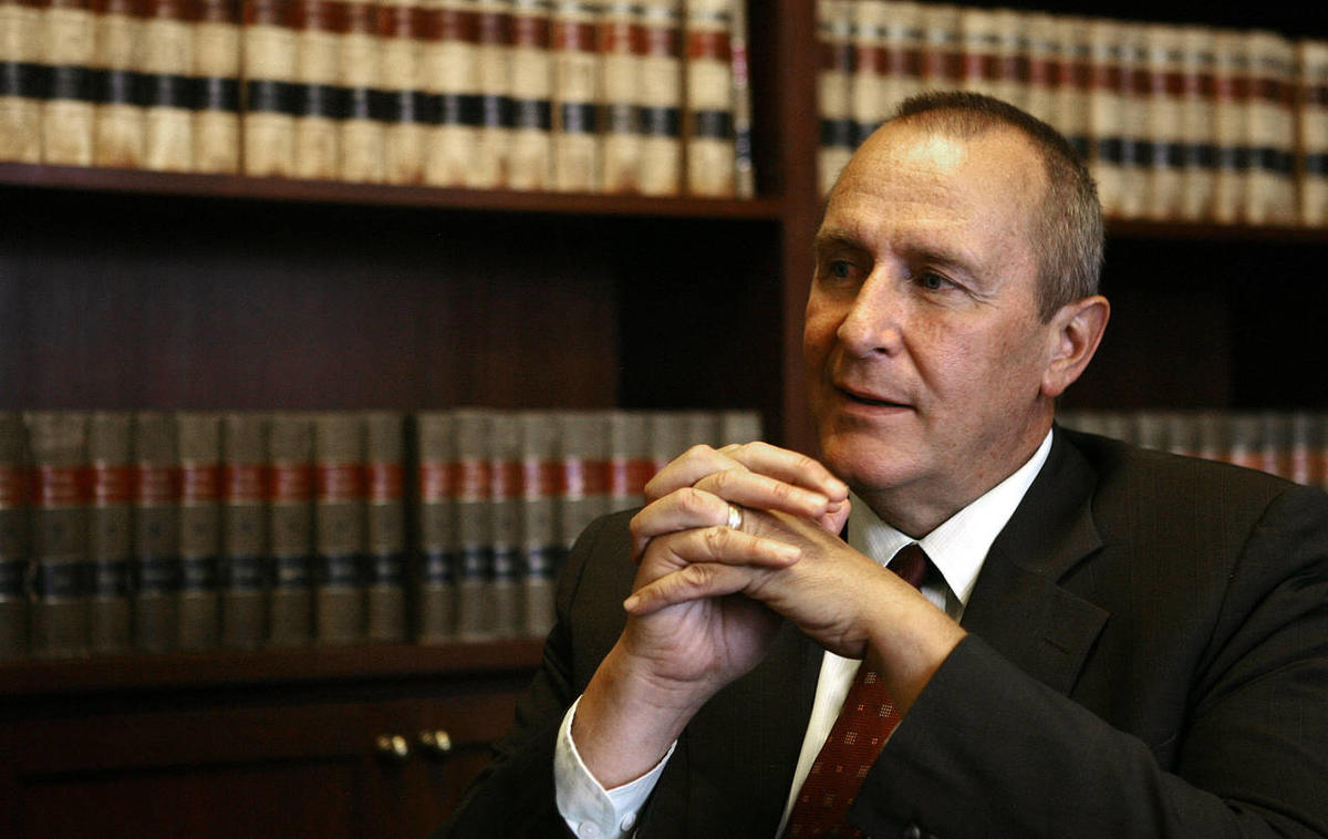 Utah Attorney General Mark Shurtleff talks about his future plans in the state, from his office at the Capitol in Salt Lake City June 29, 2011. He has since applied to be president of the University of Utah.