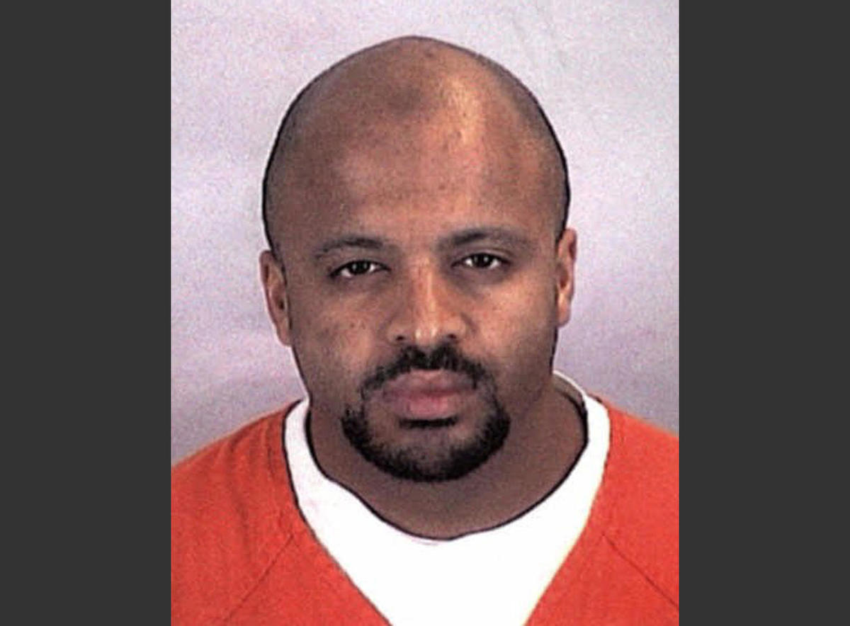 This undated file photo provided by the Sherburne County Sheriff Office shows al-Qaida member Zacarias Moussaoui. Attorneys for Saudi Arabia say a judge should reject claims by families of victims of the Sept. 11 attacks that new evidence shows agents of