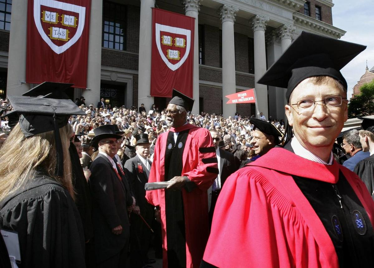 Bill Gates at the commencement of Harvard University in 2007