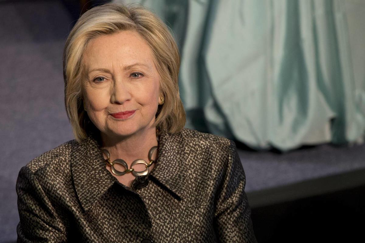 Former First Lady, Senator of New York, U.S. Secretary of State, and 2016 U.S. presidential hopeful Hillary Clinton