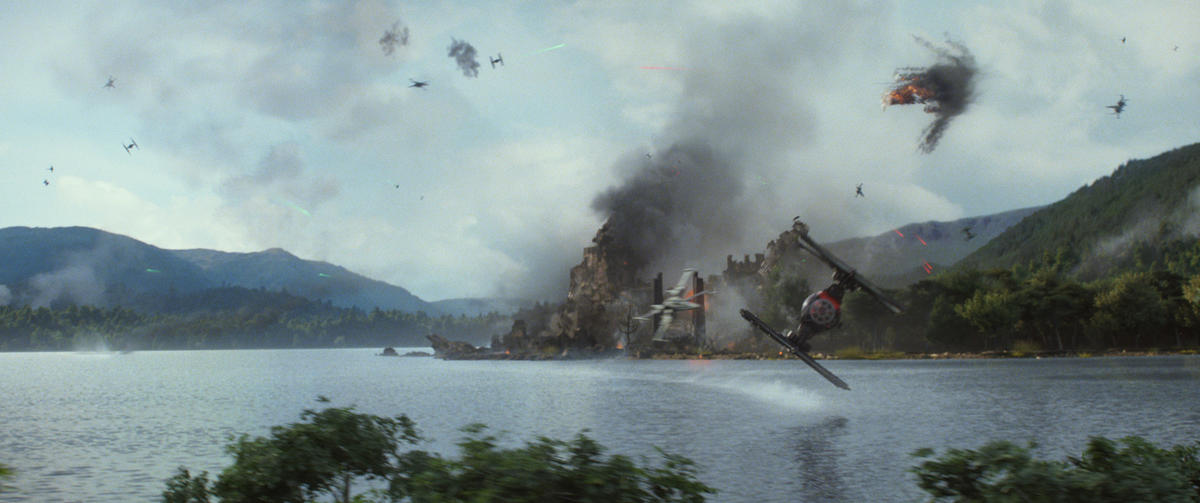 """This photo provided by Disney shows a scene from the new film, """"Star Wars: The Force Awakens,"""" directed by J.J. Abrams. The movie releases in the U.S. on Dec. 18, 2015."""