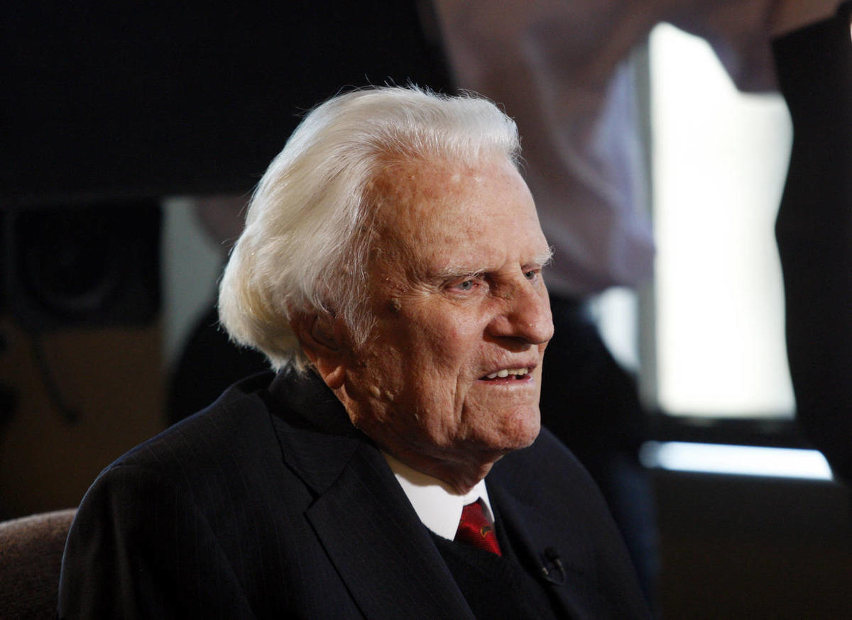 FILE - In this Dec. 20, 2010 file photo, evangelist Billy Graham, 92, speaks during an interview at the Billy Graham Evangelistic Association headquarters in Charlotte, N.C.
