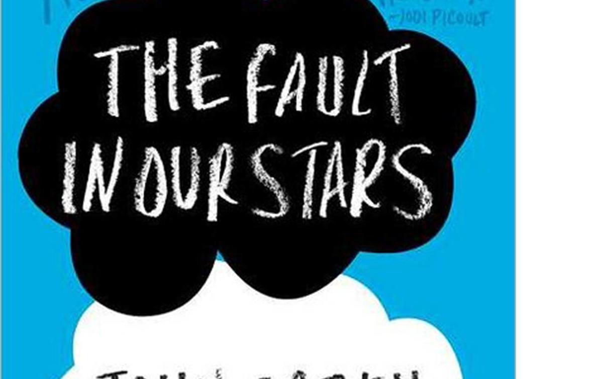 """The cover for the popular """"The Fault in our Stars"""" YA novel"""