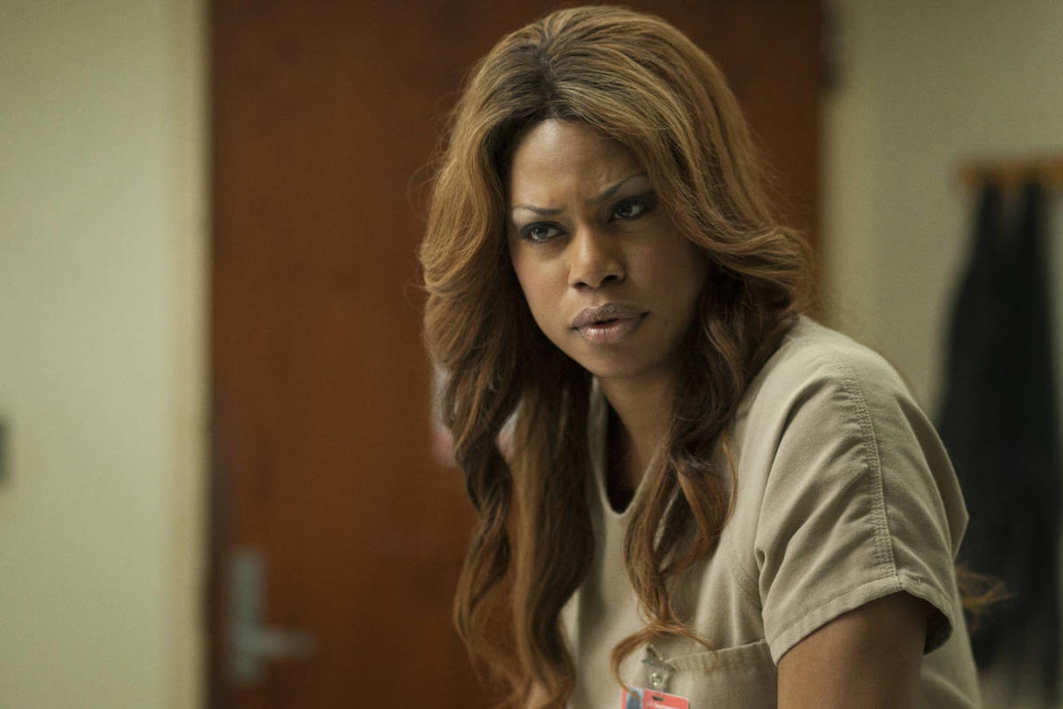 """This image released by Netflix shows Laverne Cox in a scene from """"Orange is the New Black."""""""