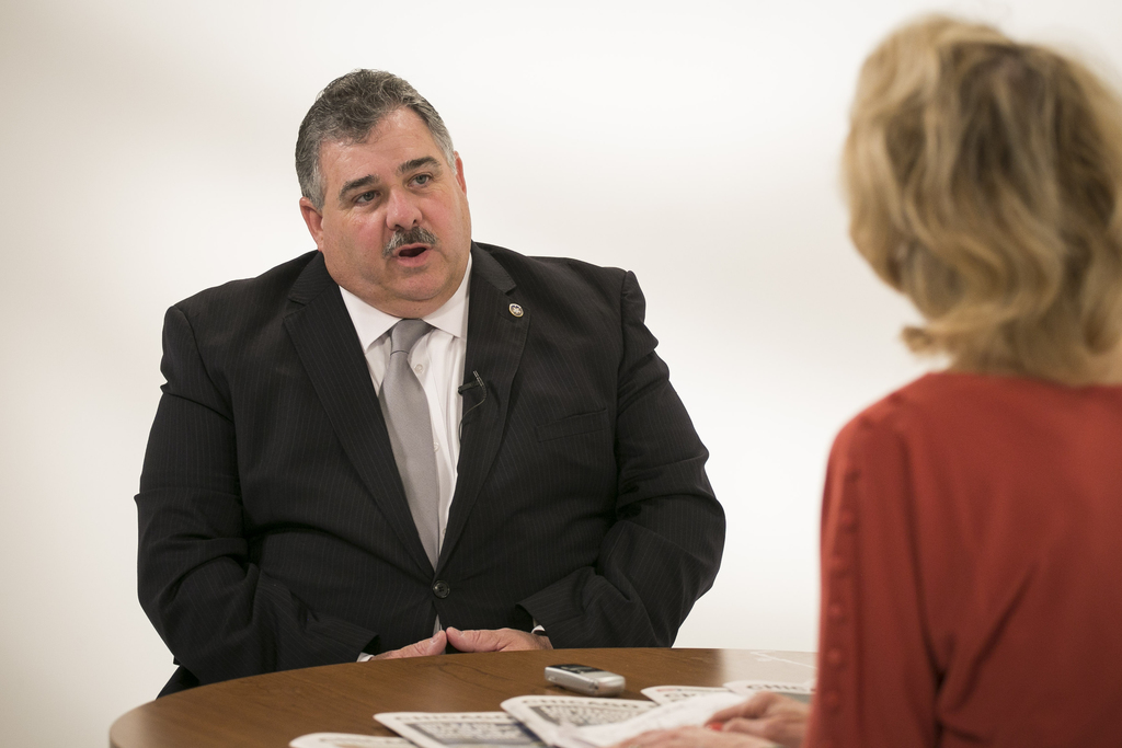 Fraternal Order of Police President Kevin Graham is interviewed by Fran Spielman.