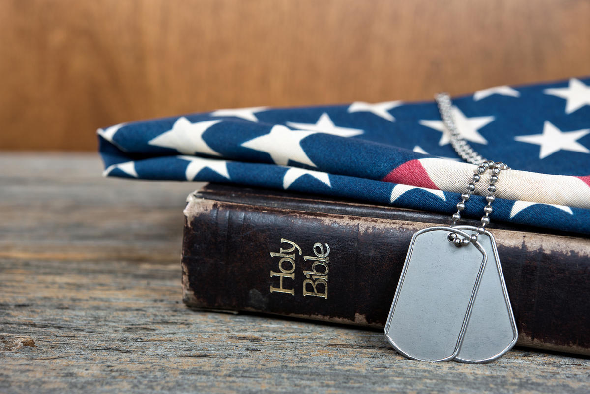 A commander is under fire for mentioning Jesus.