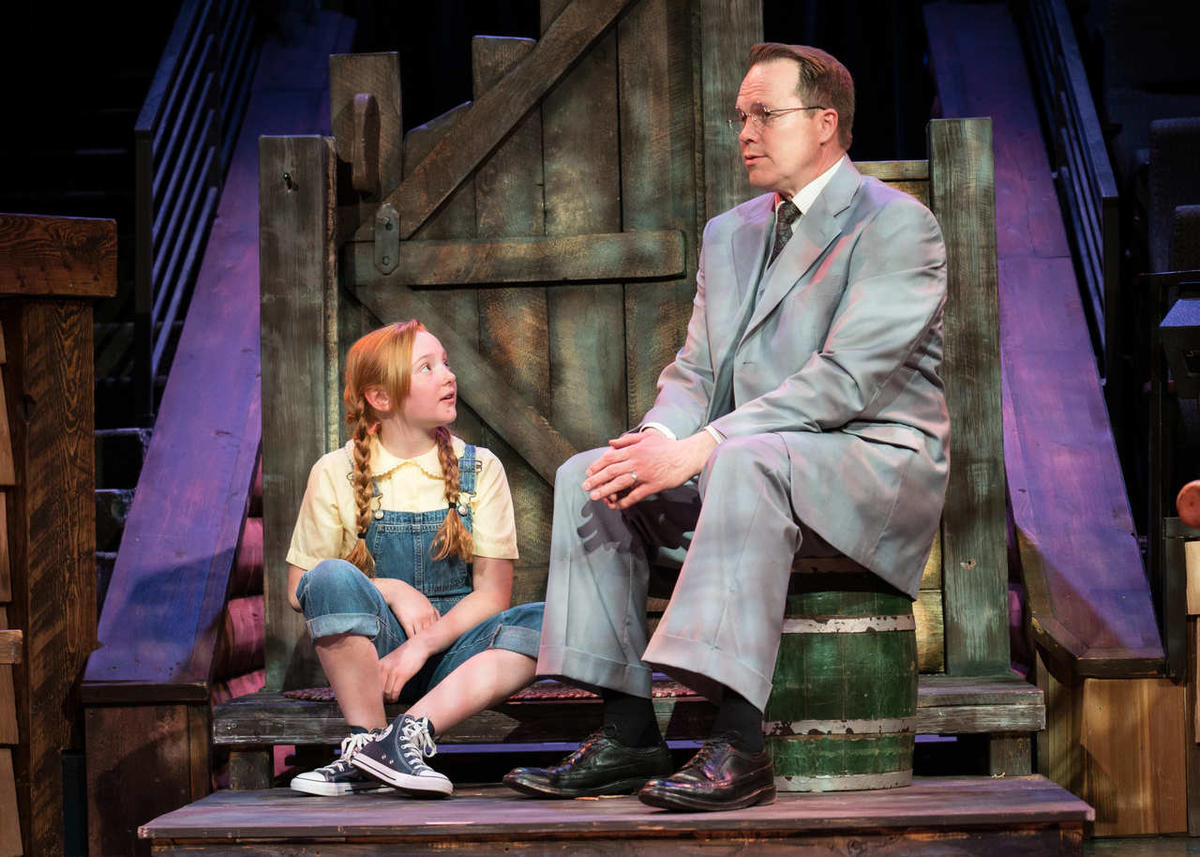 """Mia Bagley is Scout and Mitch Hall is Atticus Finch (M/W/F) in HTC's """"To Kill a Mockingbird."""""""
