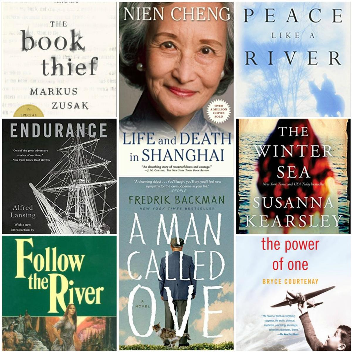 Robin Thorn of the Book Club recommended these eight books.