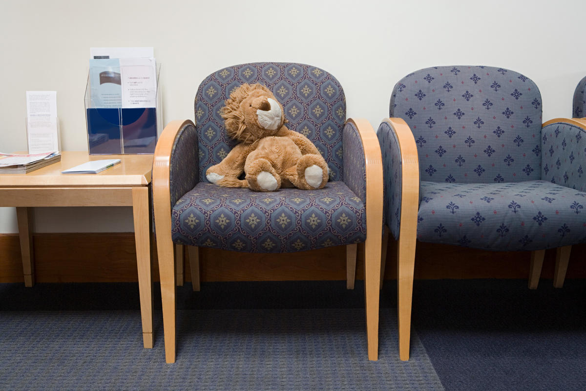 Contaminated Teddy bears. Germs that fly six feet and linger in the air. A doctor's waiting room can be a scary place, especially when you're not the person who is sick.