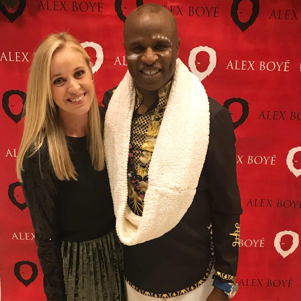 """Carmen Herbert and Alex Boye at his """"Africanized"""" Christmas Concert on Monday, Dec. 18 at Olympus High."""