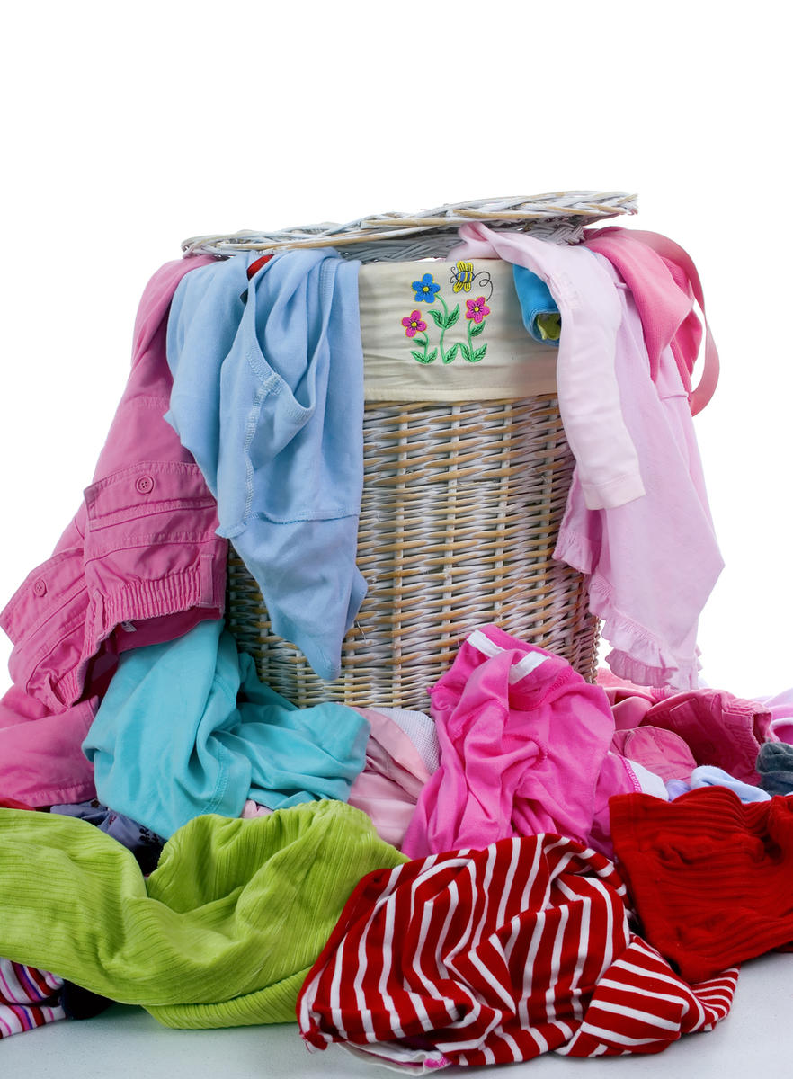 Erin Stewart shares her New Year's resolutions for her children, including putting laundry in the basket.