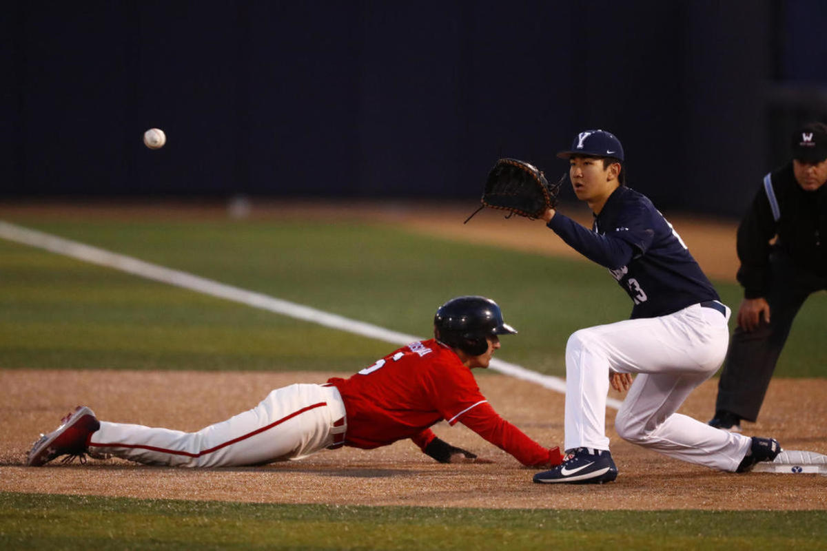 BYU and Utah play on Tuesday, March 20, 2018 at Larry H. Miller Field in Provo. The Cougars won 7-6 in 10 innings.