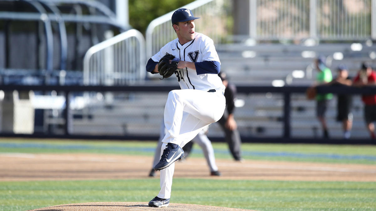 Pitcher Jordan Wood releases the pitch. He led BYU to a 3-1 win over Pacific in the series opener.