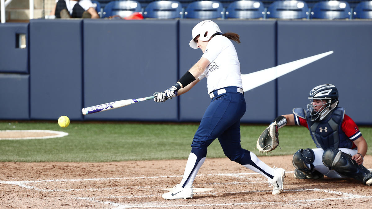 FILE: BYU junior catcher Libby Sugg swings against Saint Mary's earlier in the season. Sugg and the Cougars lost to Drake in the NCAA Tournament on Thursday.