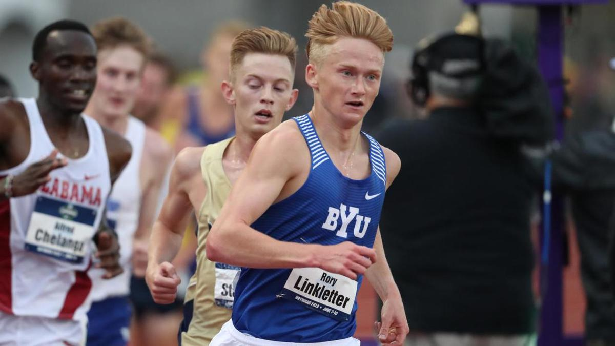 Rory Linkletter takes second place in 10,000m at the 2017 NCAA Outdoor Track and Field Championships in Eugene, Oregon.
