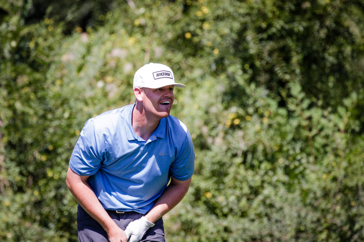 Patrick Fishburn watches his drive at The Siegfried & Jensen Utah Open in Provo, Utah on Aug. 27, 2017. Fishburn won the tournament and this week will be leading his BYU teammates into the NCAA Golf Championship.