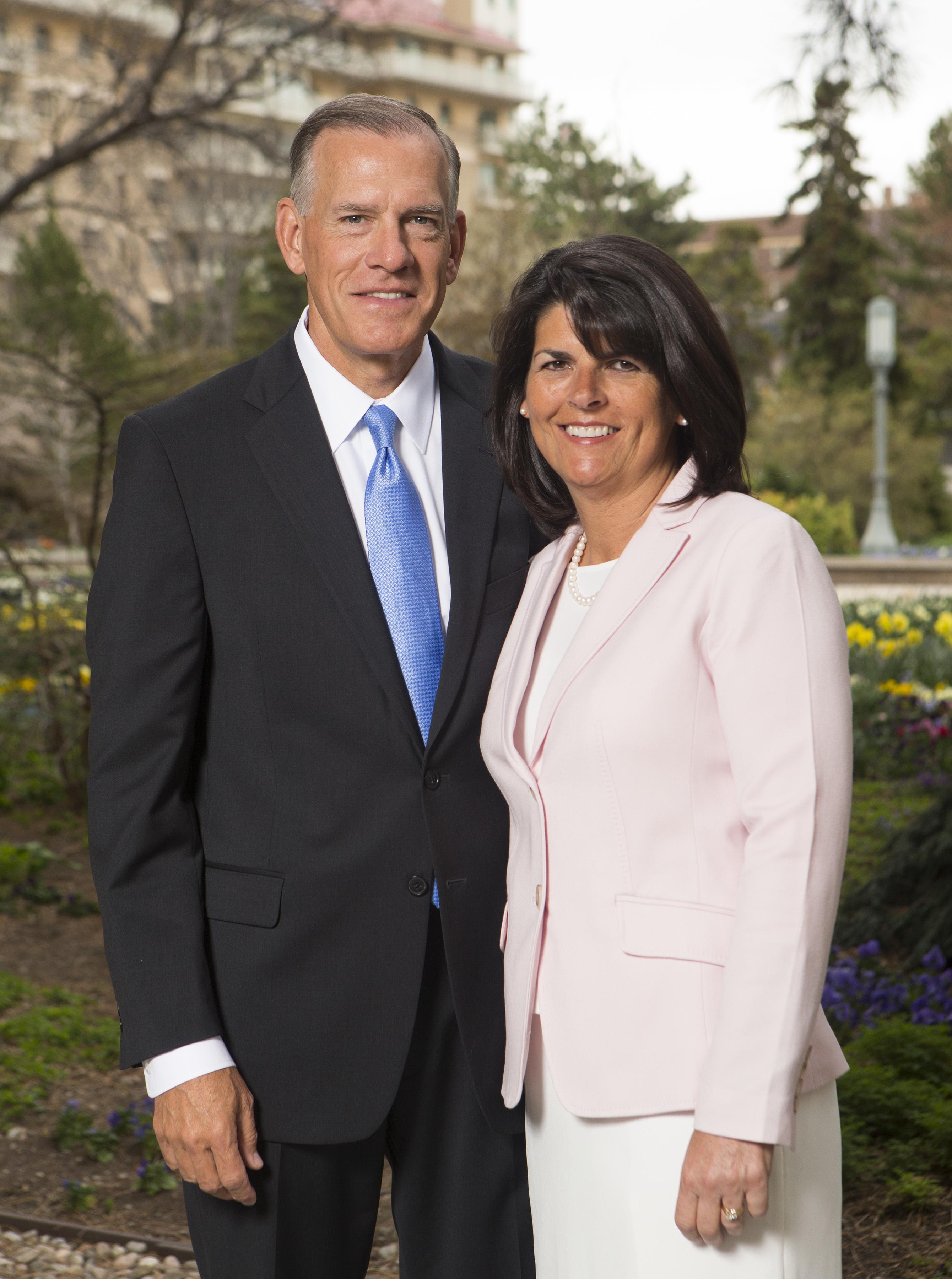 Elder Steven R. Bangerter, General Authority Seventy, and his wife, Sister Susann A. Bangerter, in Salt Lake City on Monday, April 2, 2018.