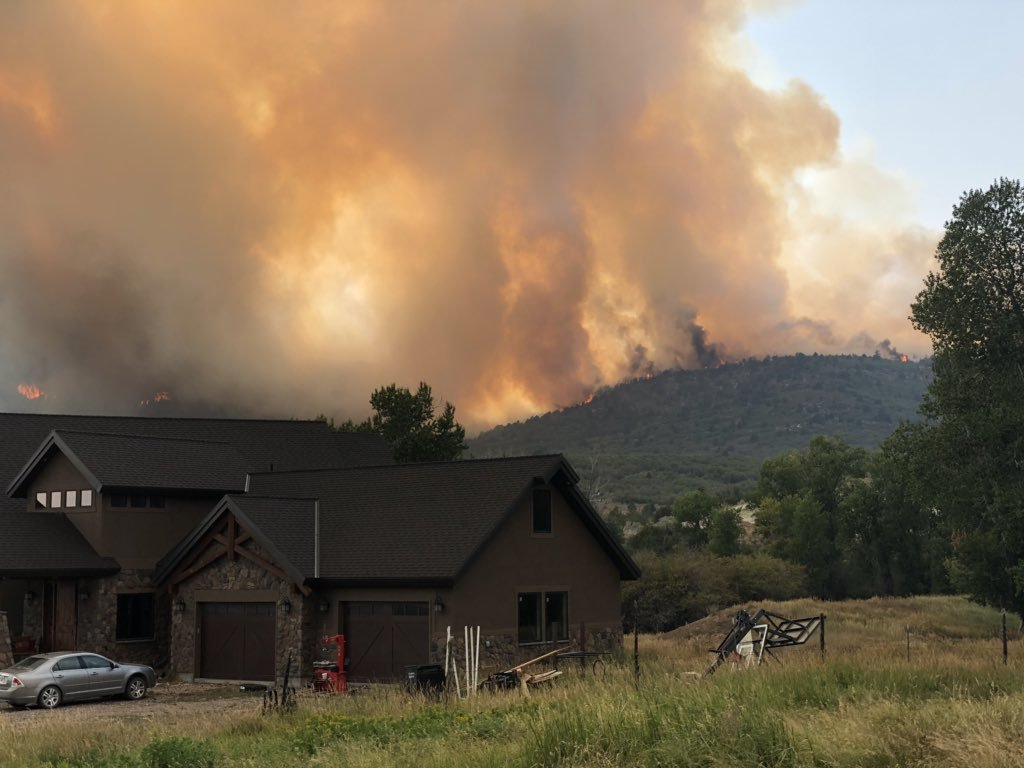 A fire in Sanpete County prompted evacuations for residents of Blackhawk Estates in Fairview on Monday, August 6, 2018.