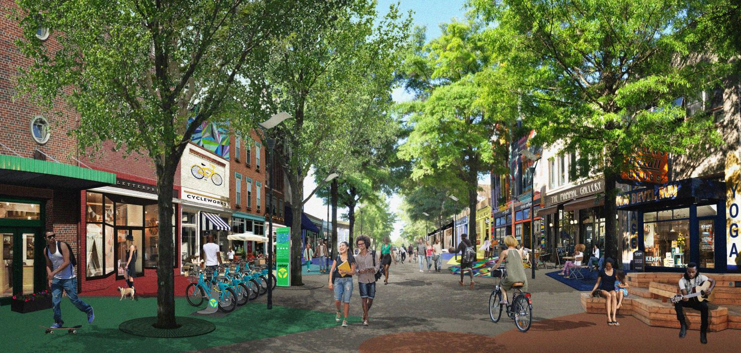 a rendering of the South Downtown redevelopment