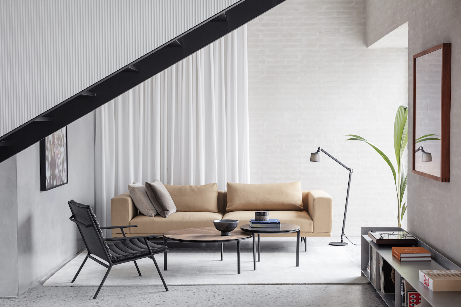 Living room with modern furniture
