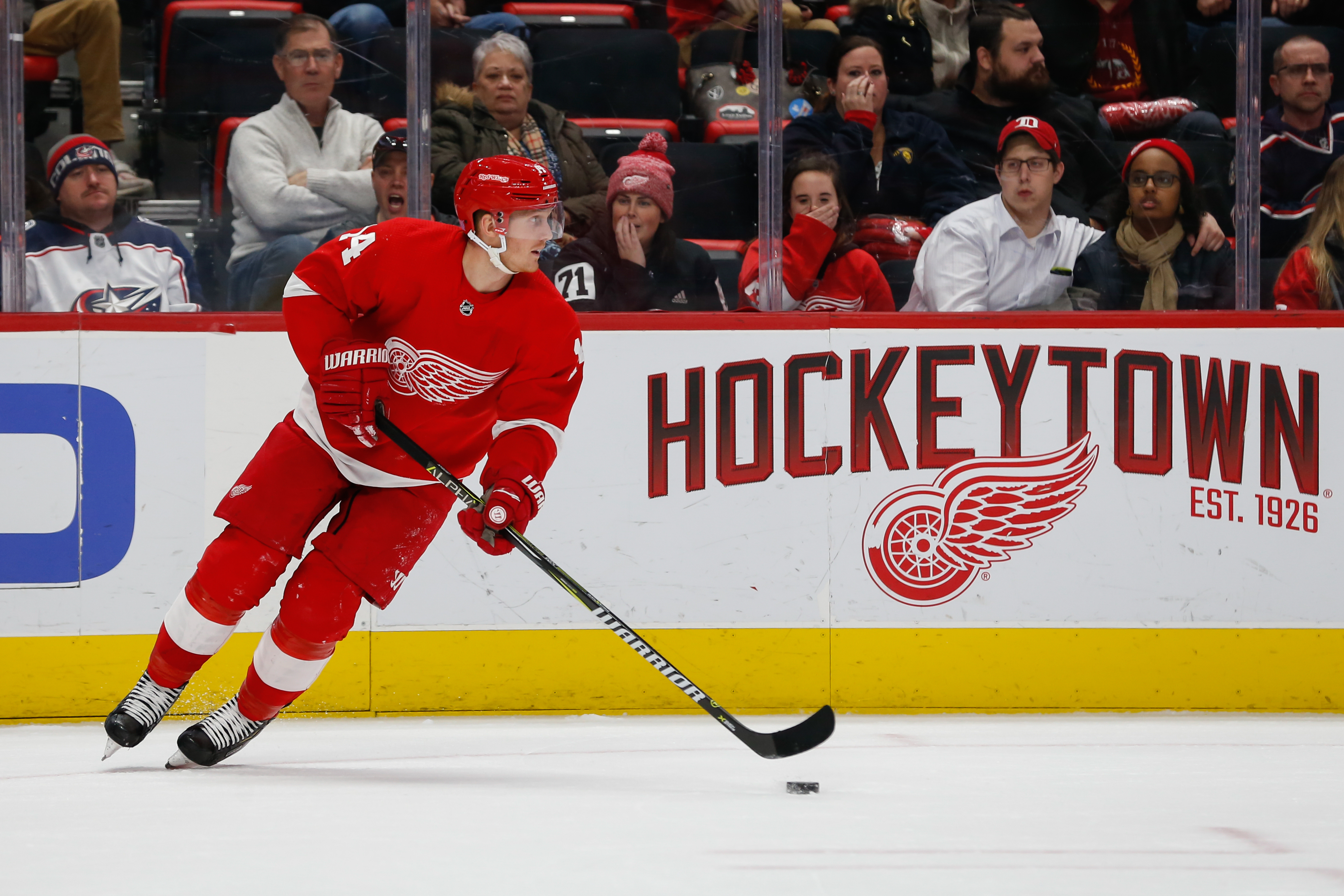 NHL: NOV 26 Blue Jackets at Red Wings