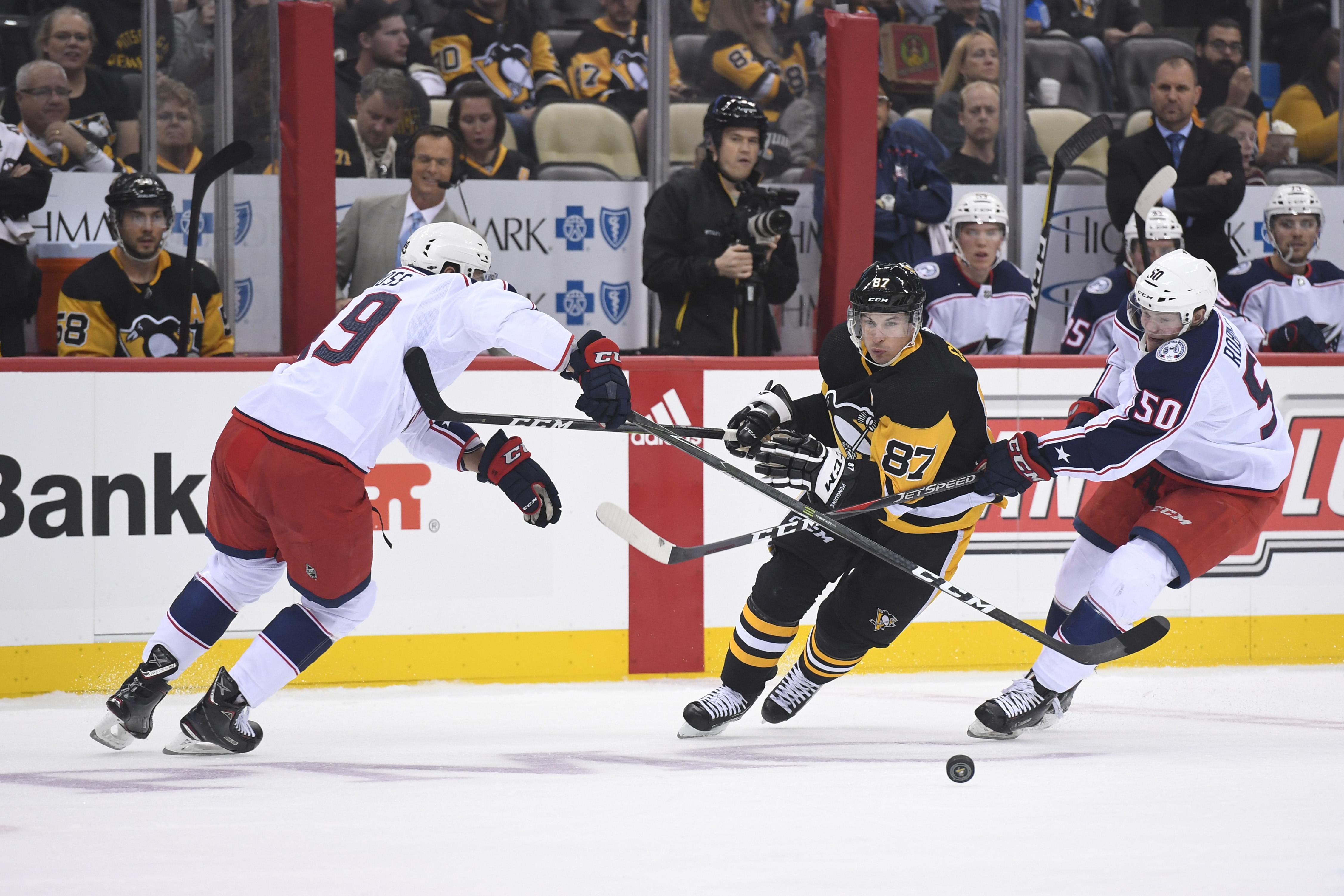 NHL: SEP 22 Preseason - Blue Jackets at Penguins