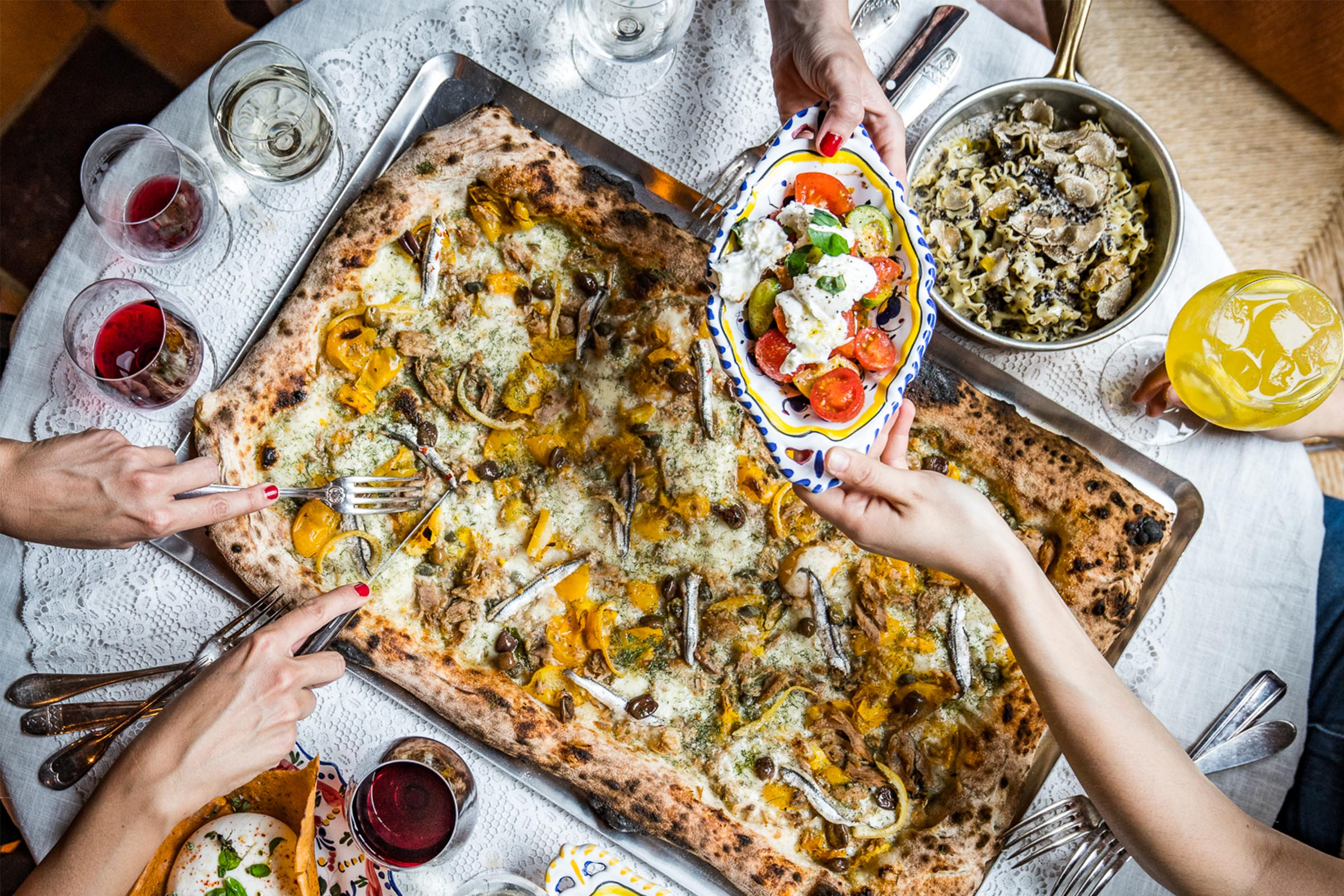 London Goes Wild for Metre Long Pizzas