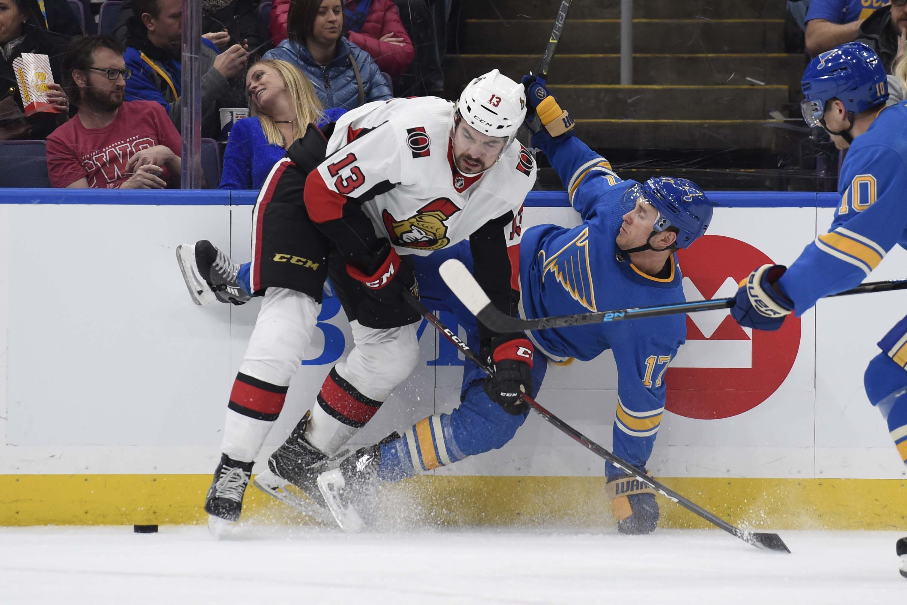 NHL: Ottawa Senators at St. Louis Blues