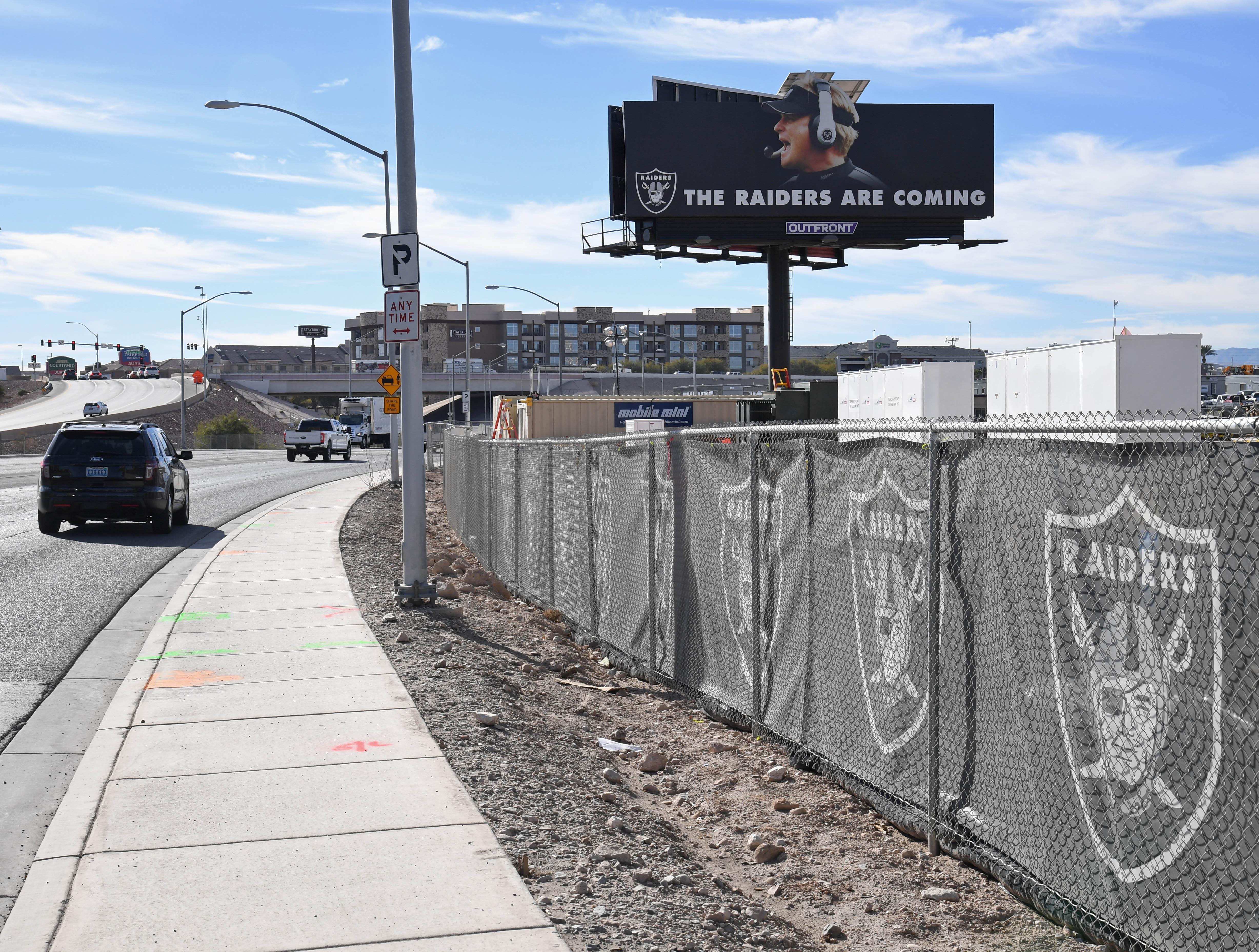 Raiders Las Vegas Stadium Site Under Construction