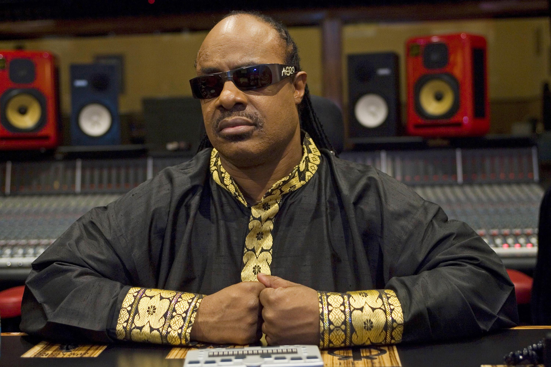 Musician Stevie Wonder is interviewed Wednesday, Sept. 28, 2005, at his studio in Los Angeles.