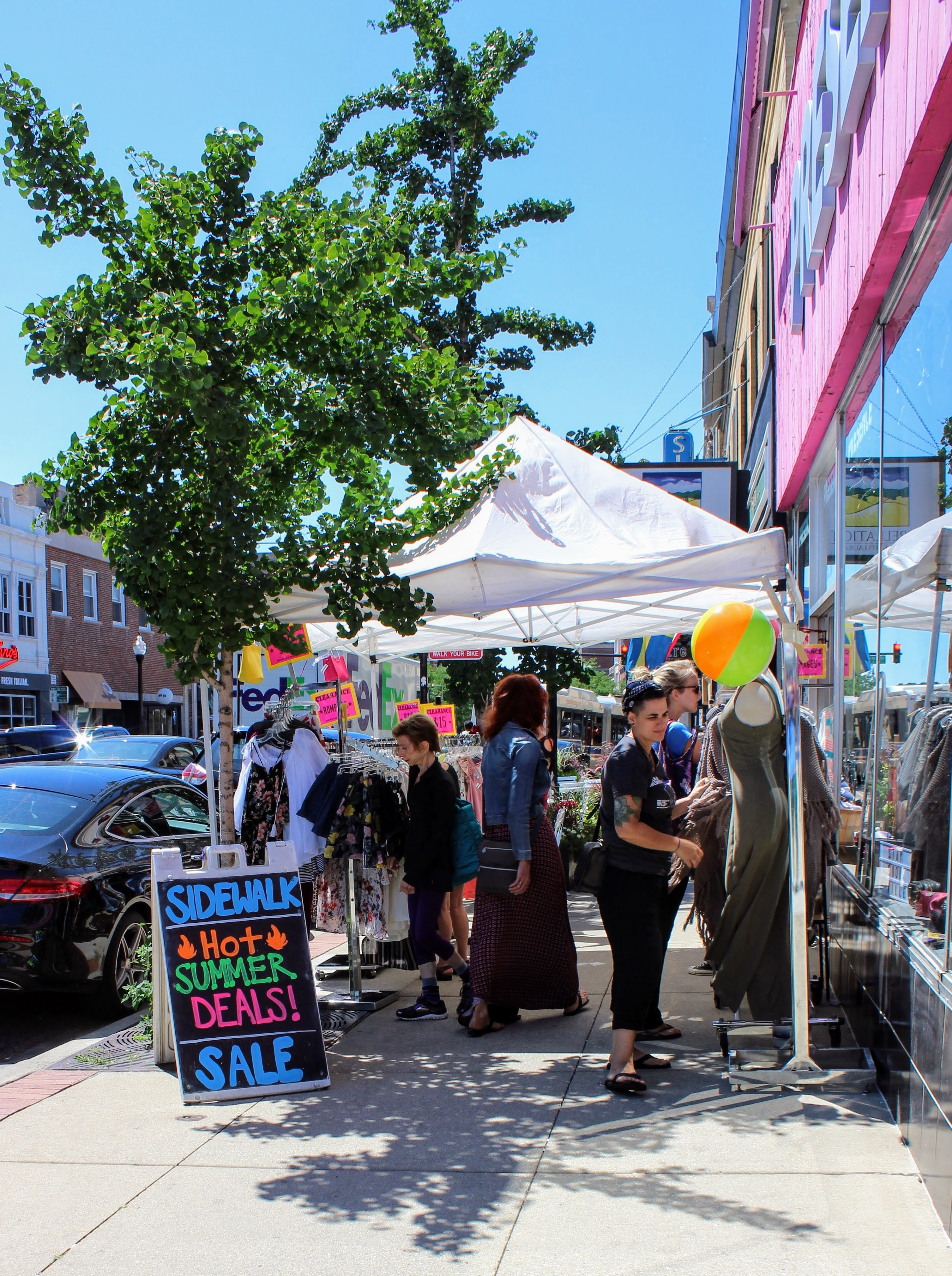 Summer sidewalk sales can be key to a store's business for an entire year.