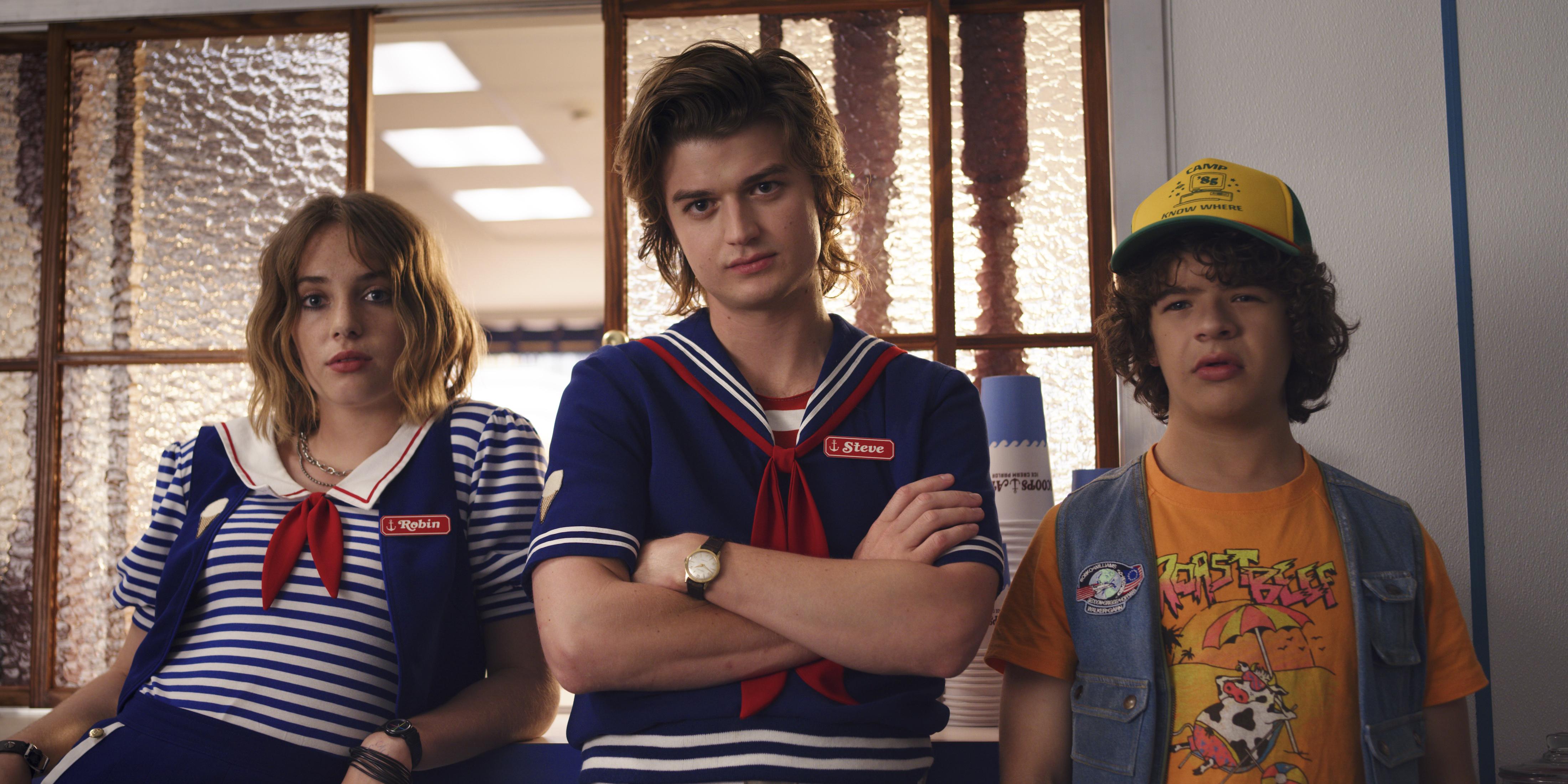 Robin, Steve, and Dustin in Stranger Things 3