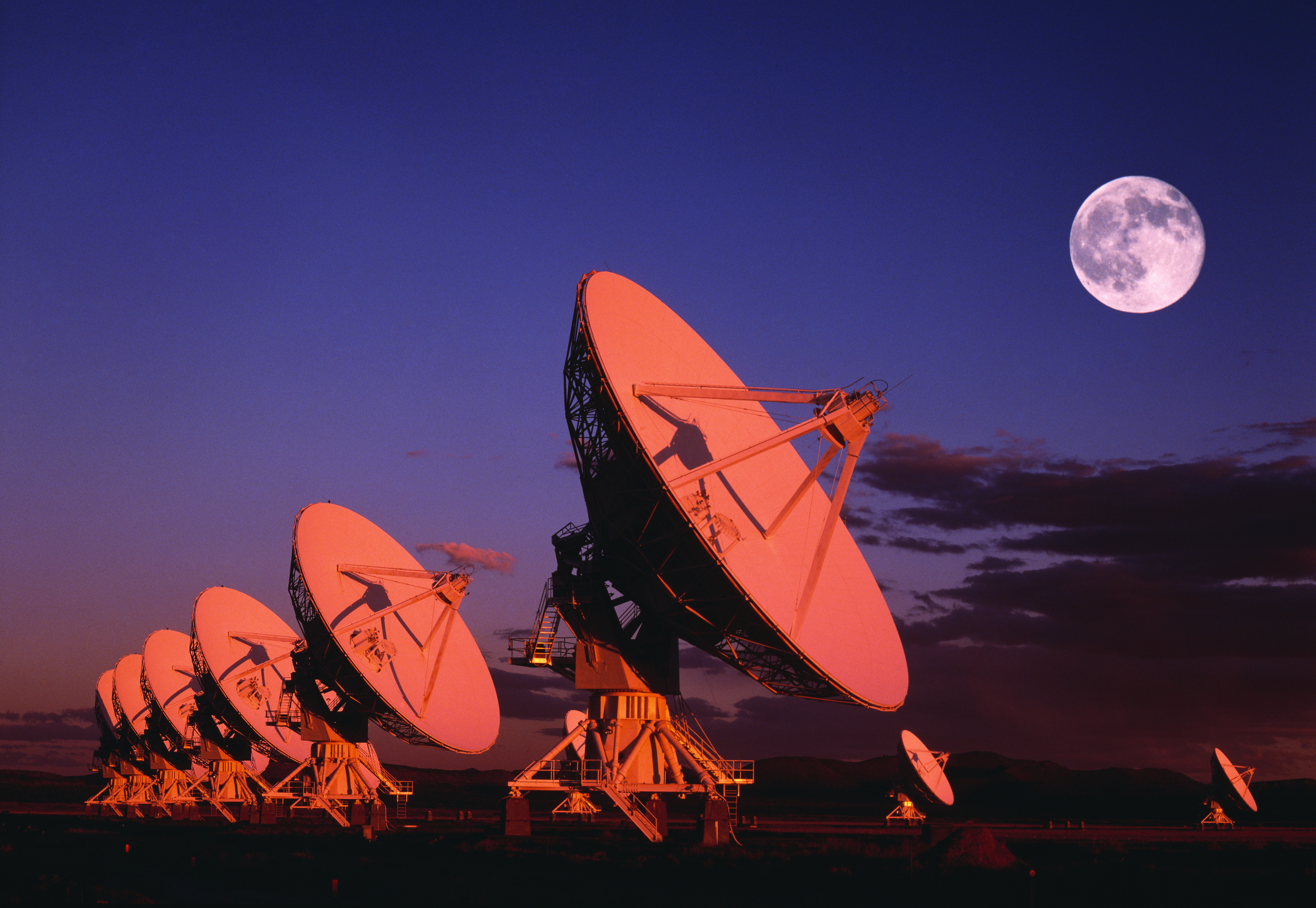 The Very Large Array radio telescope facility in New Mexico