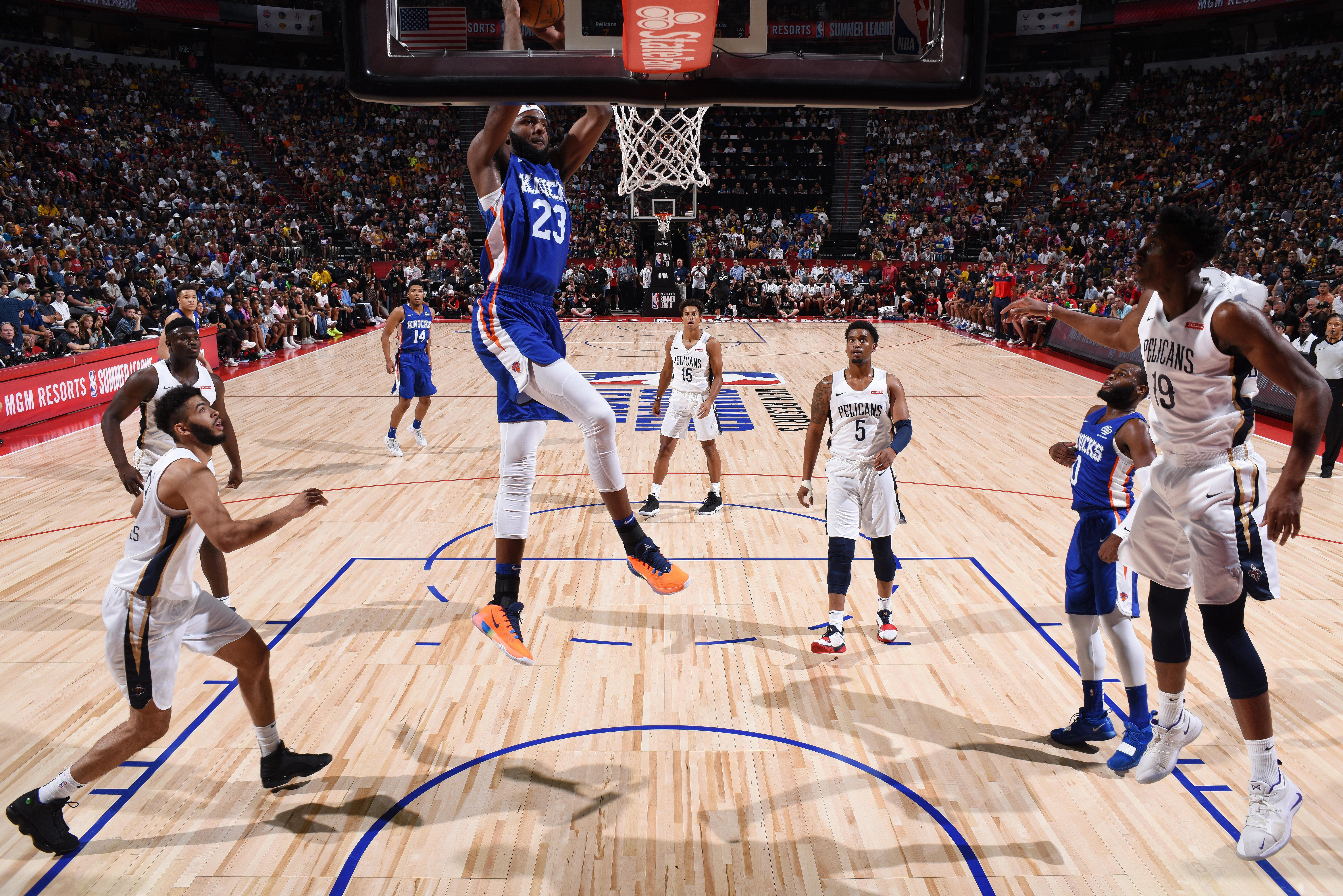 2019 Las Vegas Summer League - Day 1 - New York Knicks v New Orleans Pelicans