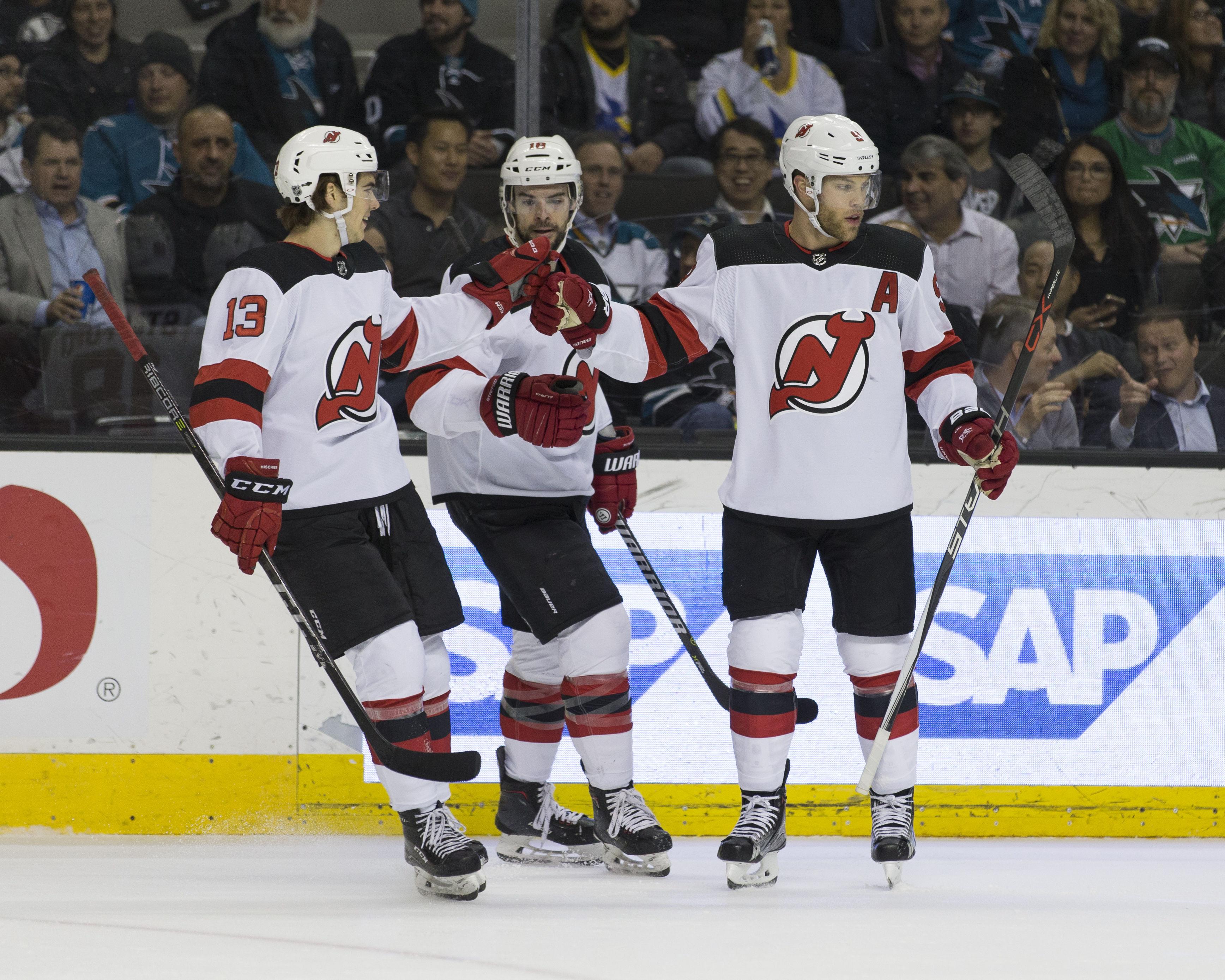 NHL: New Jersey Devils at San Jose Sharks