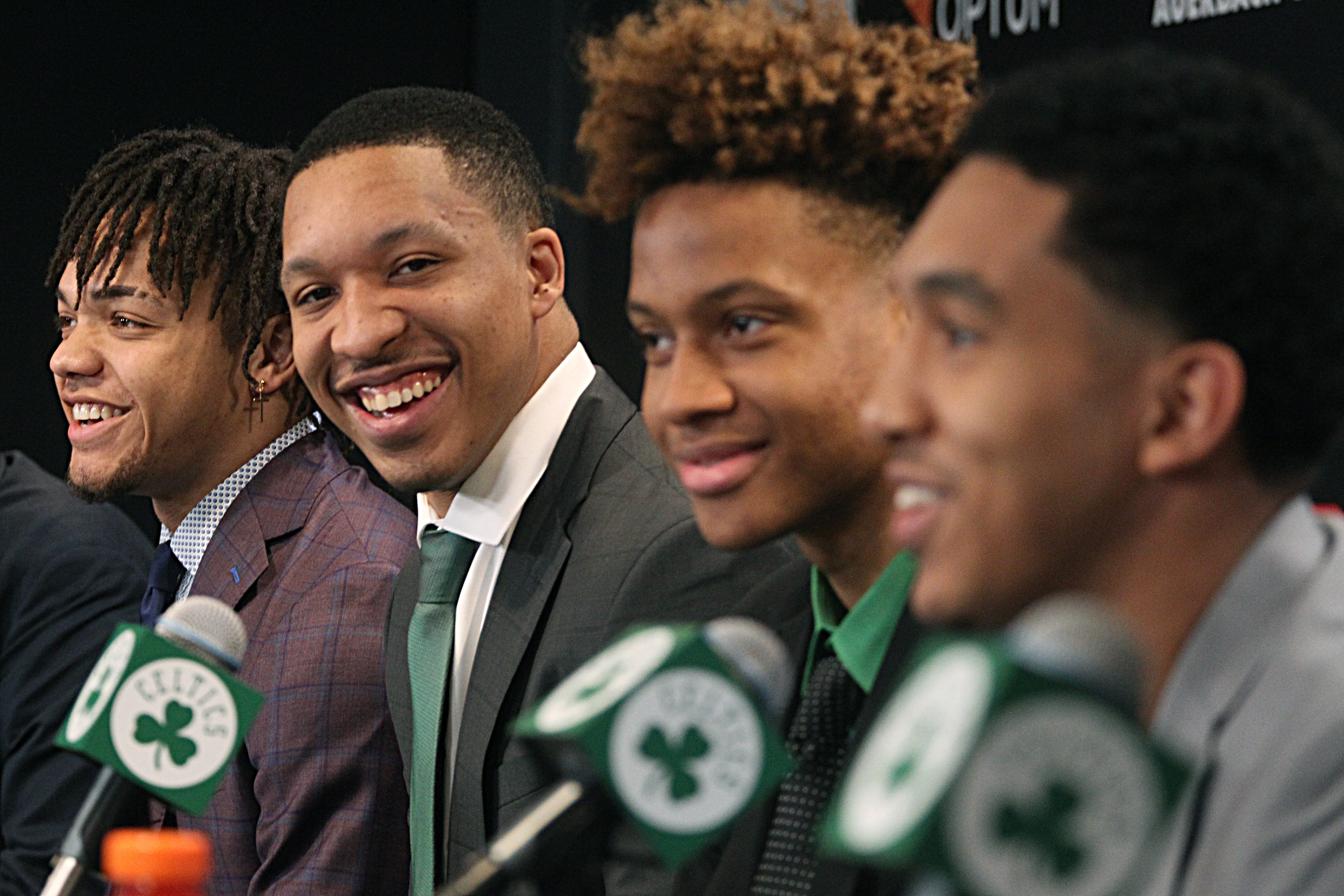 Boston Celtics Hold Introductory Press Conference For Draft Picks