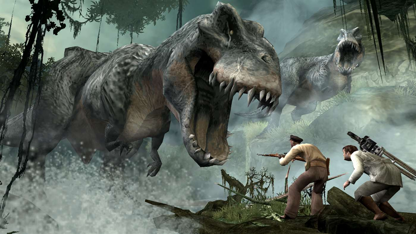 Dinosaurs threaten our brave band of adventurers