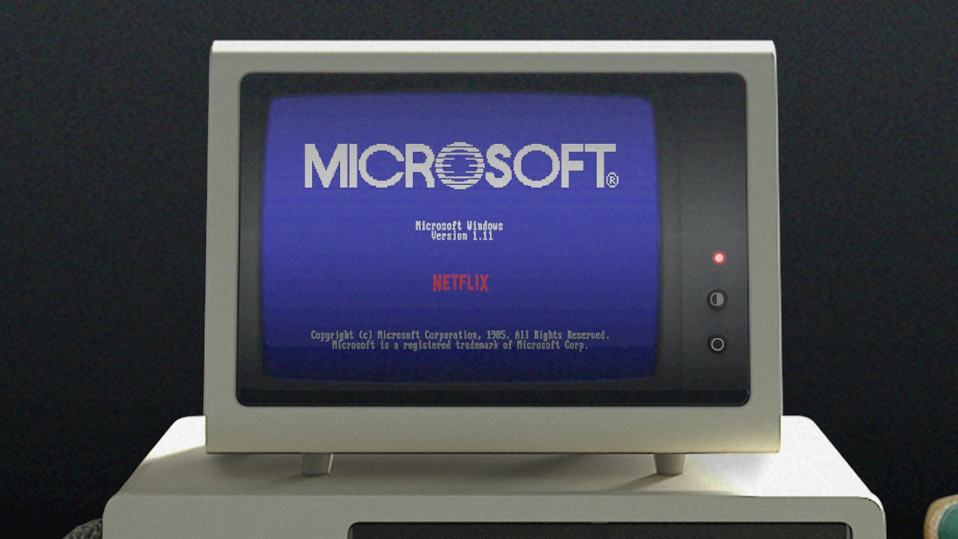 image of Microsoft Windows 1.11 on a 1985 computer
