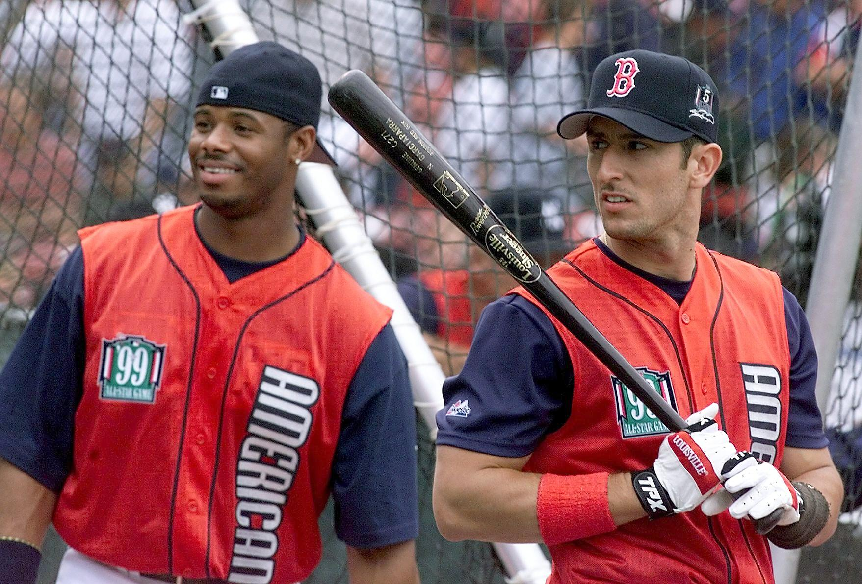 Ken Griffey Jr. of the Seattle Mariners and Nomar