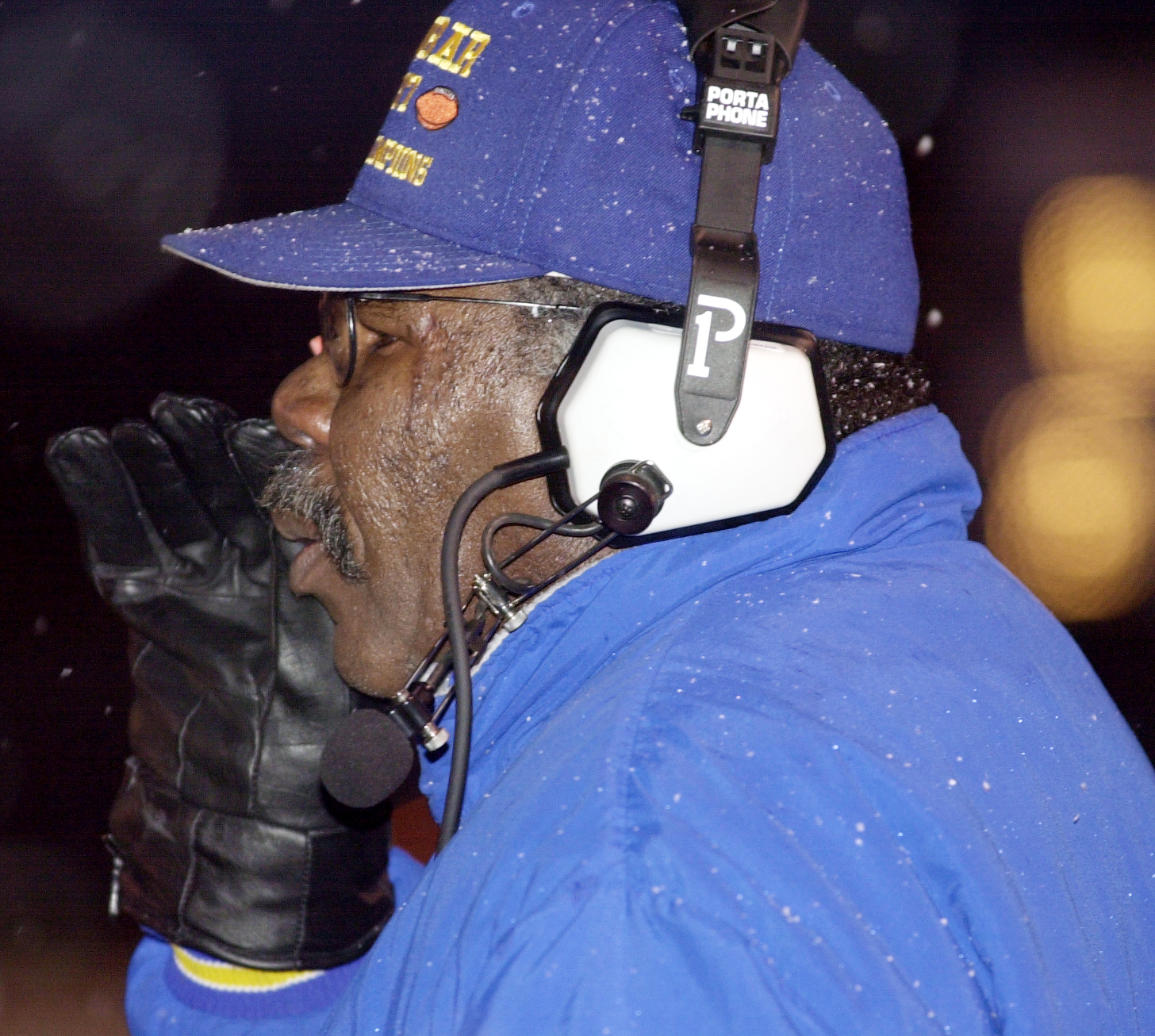 Dunbar coach Glenn Johnson in 2002 at Gately Stadium.