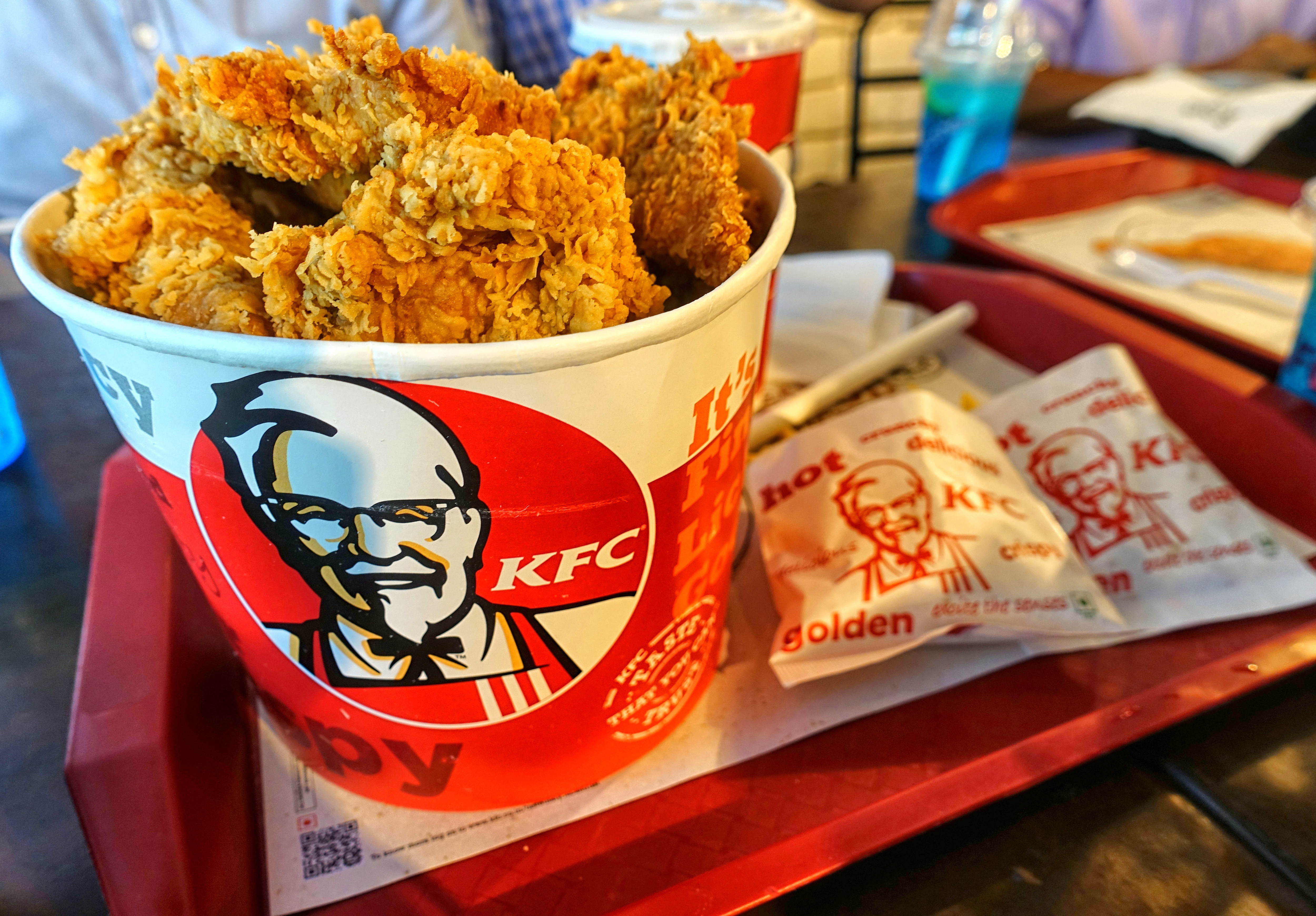 KFC Bucket Chicken at an outlet in City Center shopping mall...
