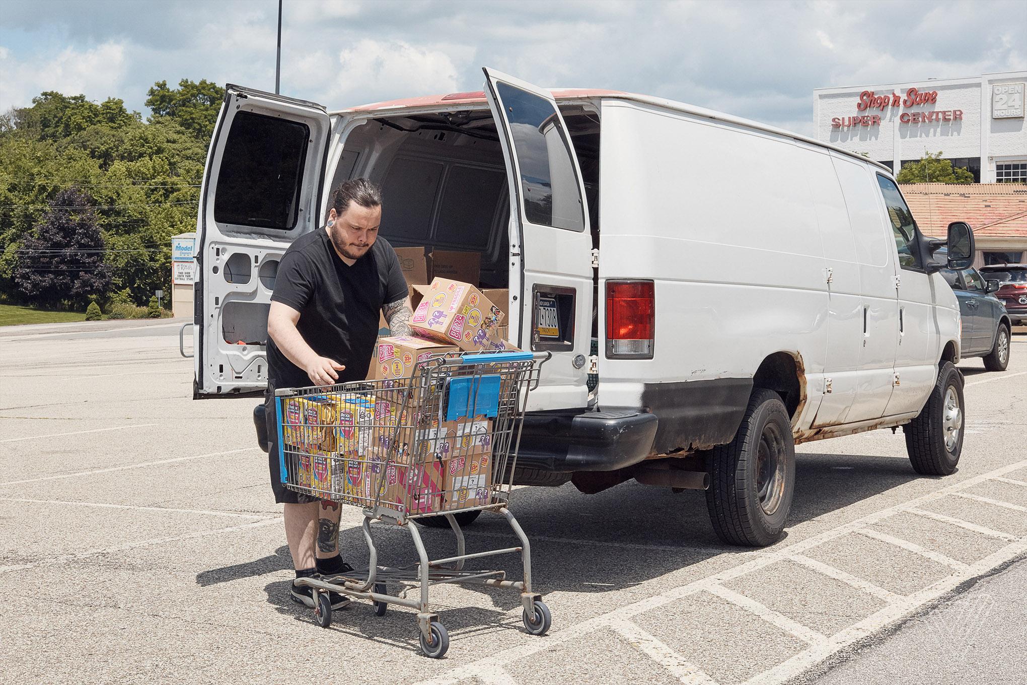 Nomads travel to America's Walmarts to stock Amazon's