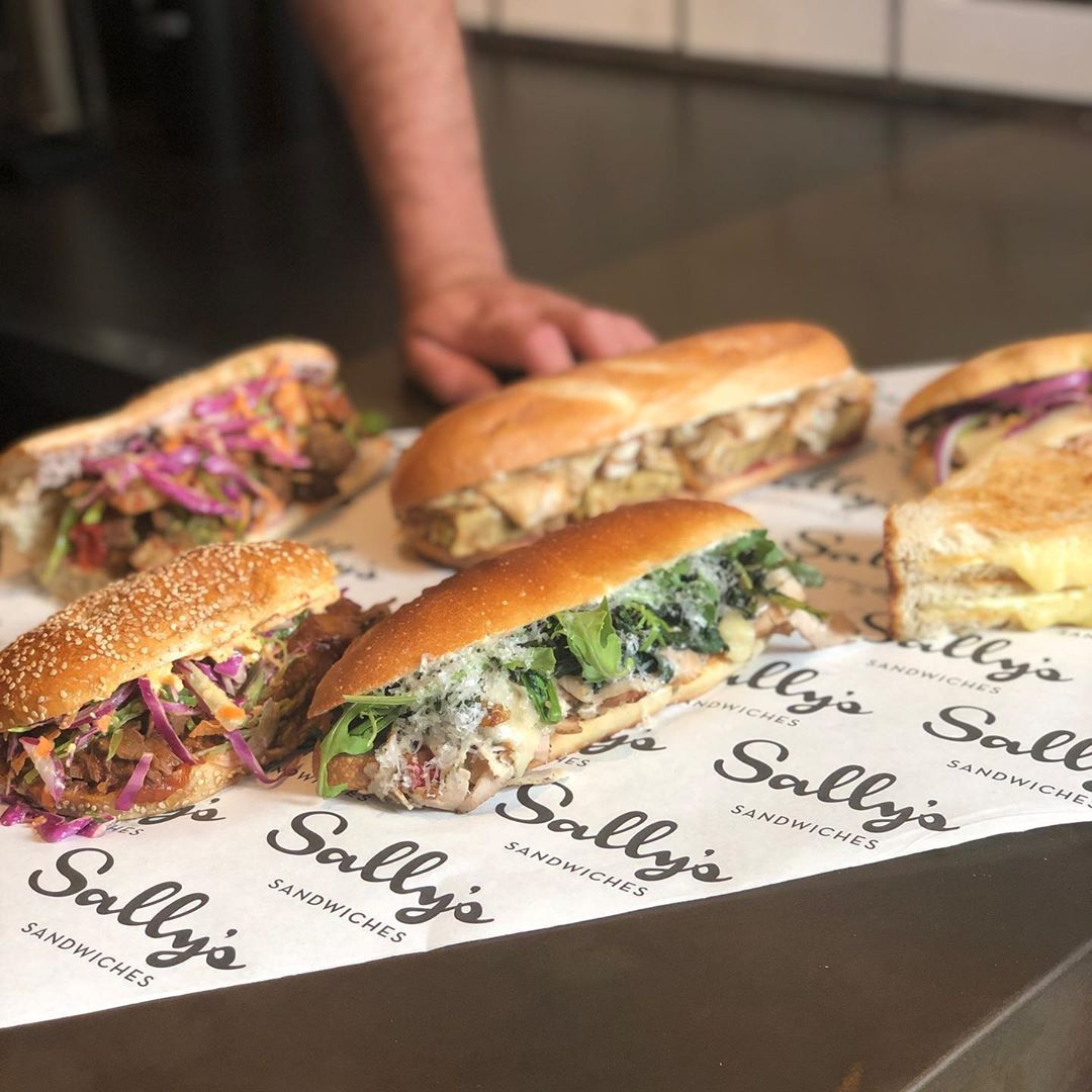 Sandwich selections from Sally's