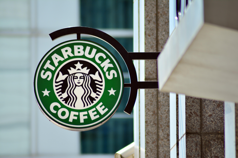 starbucks logo on a sign outside