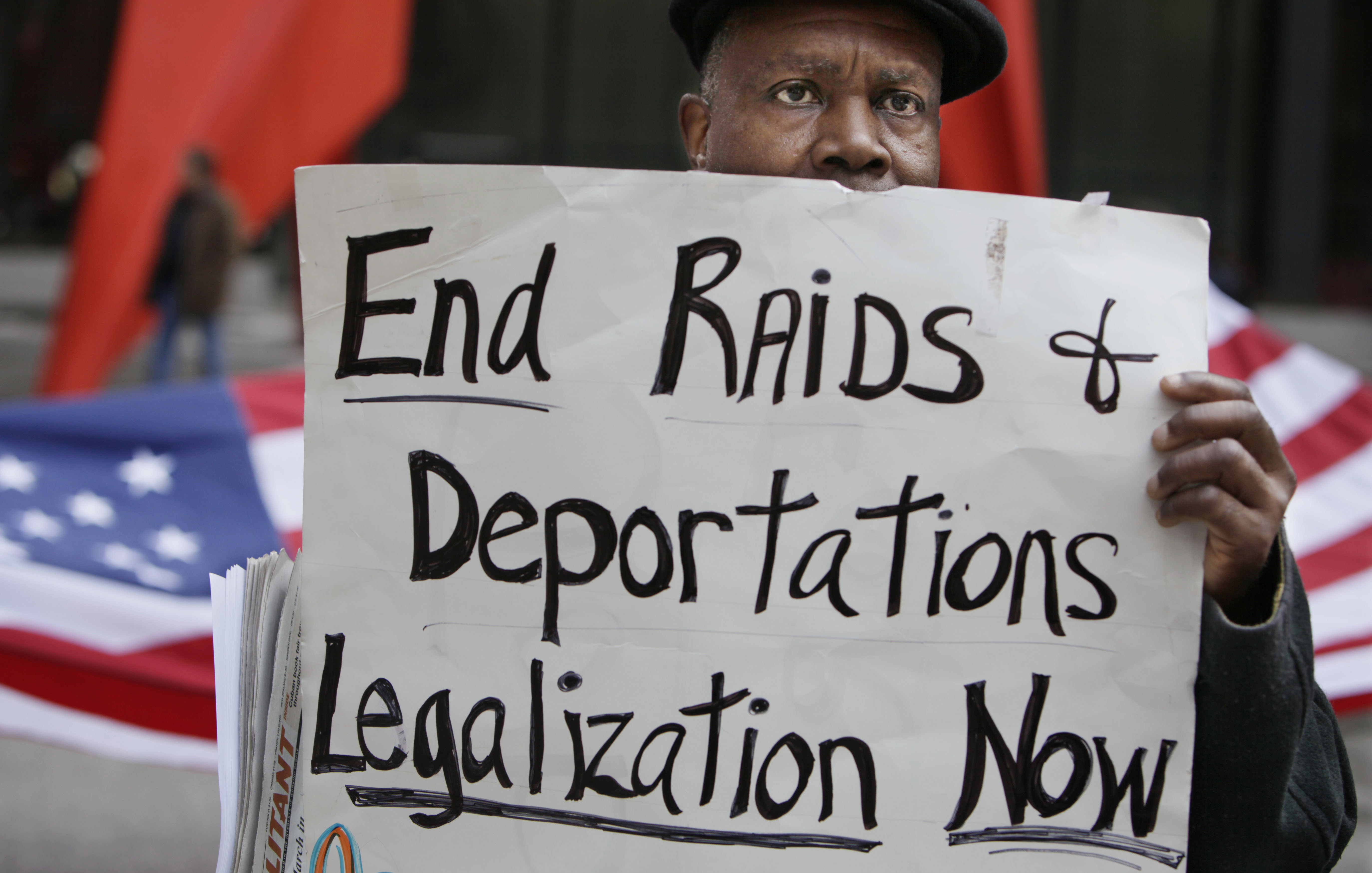 An immigration rally in Chicago.